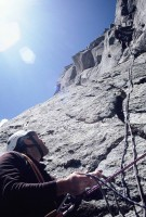 Jim Sykes (belaying) and Tony Barton on \'Cop Out\'